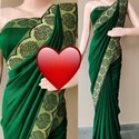 Diamond silk banarasi silk border saree