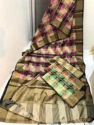 Tanchoi Silk Saree, 6.3 m (with blouse piece)