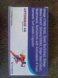 Softgel Capsules Of Omega 3 Fatty Acids, L- Glutathione, Gree