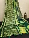 Party Wear Printed Saree, Without Blouse Piece, 5.5 M (separate Blouse Piece)