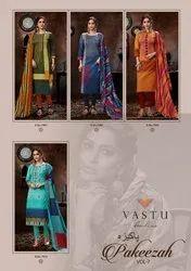 Pakistani Unstitched Vastu Tex Pakeezah Vol 7 Lawn Embroidery Suits