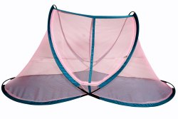 For Home Pink Poly Cotton Mosquito Net
