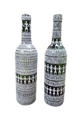 Hand painted Decorative Glass Bottle