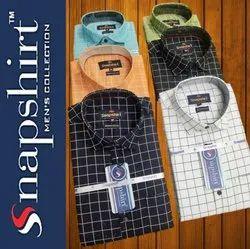 SNAPSHIRT Men Check Shirt, Size: M L Xl