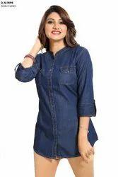 Denim Shirt Top For Women