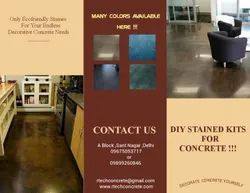 Commercial Building Tile/Marble/Concrete Stained Concrete Flooring Service, For Indoor