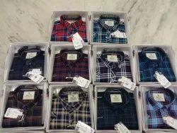 Boys Indigo Check Shirts