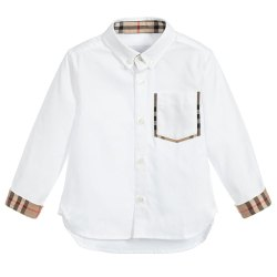 Regular Wear Plain Kids Cotton Shirt