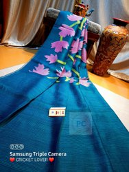 Premium Quality Pure Hand Weaving Matka Muslin Fabric Jamdani Saree With Blouse
