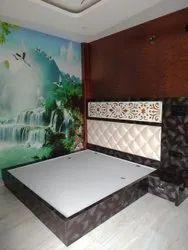 Bedroom Interior Design, Work Provided: Wood Work & Furniture