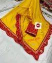 Dhola Bandhani Saree