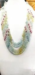 Multi Colored Beads Necklace Necklace