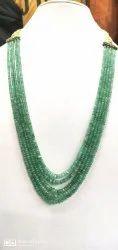 Emerald Plain Beads