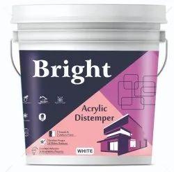 Bright Matt Acrylic Distemper, For Wall, Packaging Type: Bucket