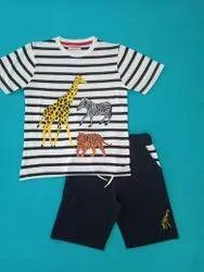 Tshirt and short Stripe Boys Set, Size: 4-12 yrs