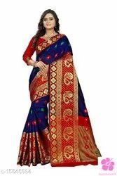 Saree Fabric: Cotton Silk Blouse: Running Blouse Blouse Fabric: Cotton Silk