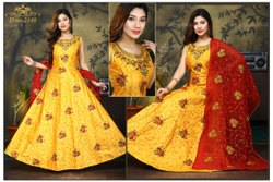 Designer Full Embroidery Work Gown