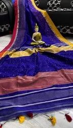 Handloom Cotton Silk Sequins Sarees