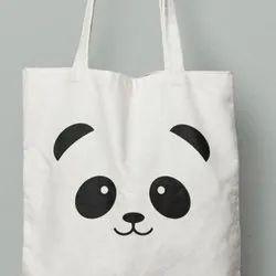 Ritika Creation Black Canvas Tote Bag, Size/Dimension: 17*14