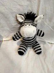 Wool White Zebra Soft Toy