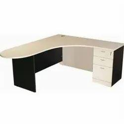 Wooden L Shape Office Table, Size: Standard, Optional