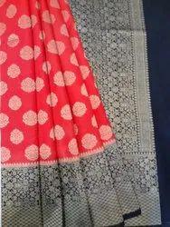 Parinitaa Red Silk Fabric