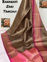 Banarasi Weaving Tanchoi Tissue Silk Sarees