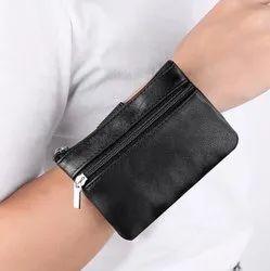 Fashion Genuine Leather Sports Waterproof Running Women and Men''s Wrist Bag