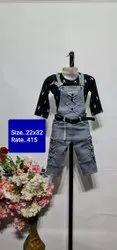 22x32 Black Kids Dangri Suit