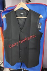 Cotton Waiter Black Waistcoat