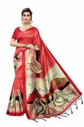 Ligalz presenting new art silk sarees with running blouse with fancy jhalar