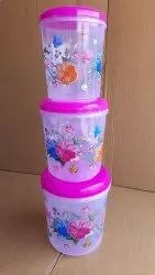 UKP Plastic Household Flower Printed Container