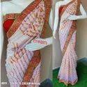 Raw silk Bandhani saree with blouse