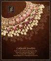 Golden 22k South Indian Kundan Gold Necklace