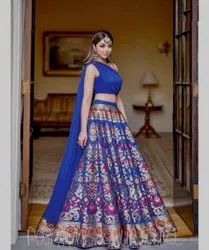 Poonam royal blue Lehenga Choli