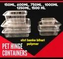 Pet Hinged Lid Container
