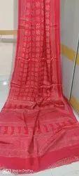Authentic Ajrak Printed Silk Sarees