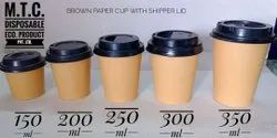 Brown Paper Coffee Cup, Capacity: 350, Packet Size: 50pcs
