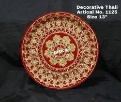 Red Decorative Pooja Thali