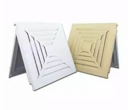 Powder Coated Square Ceiling Diffuser, For Commercial, Slot