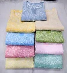 Cotton Multicolor Anarkali