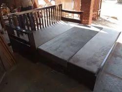 Wooden Sheesham Wood Sofa Cum Bed