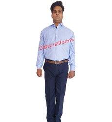 Carry Uniforms Polycotton Mens Sky Blue Formal Shirt, Handwash