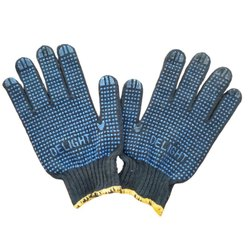 Delight Full Fingered Cotton Dotted Hand Gloves