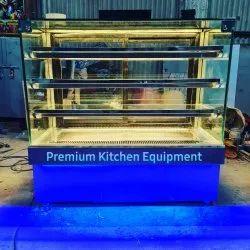 Silver Cake Display Showcase, For Refrigration