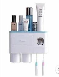 Automatic Toothpaste Dispenser With Toothbrush Holder Organizer Set