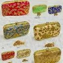 Machine Embroidery Clutch Box Bags