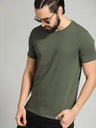 Plain Men JW Texas Round Neck T -Shirt 120-130(GSM), Quantity Per Pack: 5