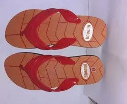 Blue red,brown red Hawaii Printed Rubber Slipper, 18 Mm, Size: 6x10