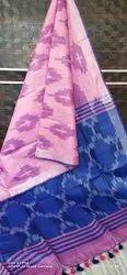 Suraj Handlooms Kalamkari Prints Ikat Cotton Saree, With Blouse, 6.3 m